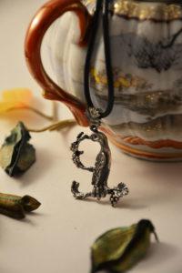 Armenian Handmade Silver Pendant Letter Z on Jar