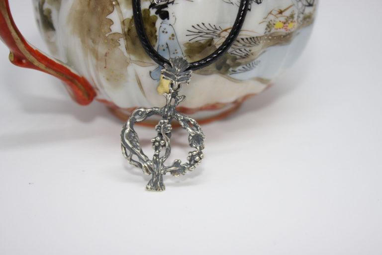 Armenian Handmade Sterling Silver Pendant Letter P