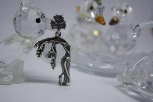 Armenian Handmade Sterling Silver Pendant letter B