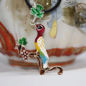 Armenian handmade pendant Enamel Letter V