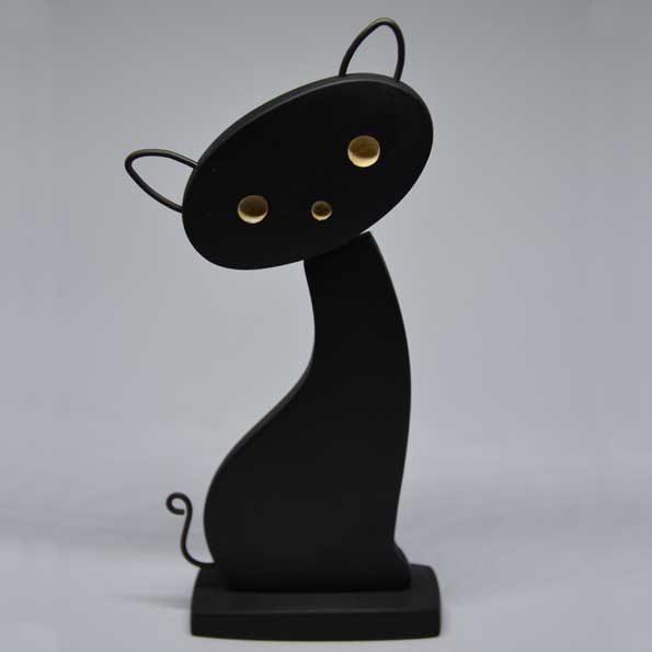 Handmade Wooden Cat