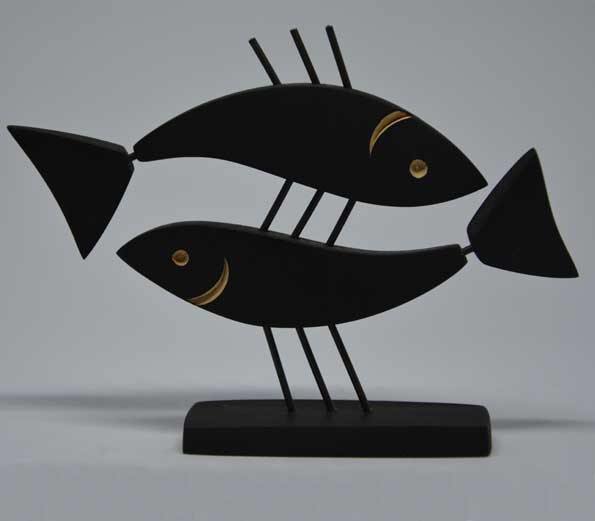 Handmade wooden Fish Decor