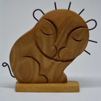 Handmade Wooden Lion